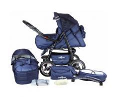 "bergsteiger Kombi-Kinderwagen ""Rio marine blue 3in1"" (10-tlg), blau, Unisex, blau"