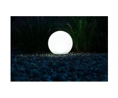 HEITRONIC LED Kugelleuchte Boule, LED-Board, Neutralweiß, Tag-/Nachtsensor weiß Gartenleuchten Gartendekoration Gartenmöbel Gartendeko
