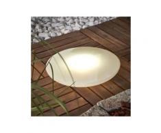 BONETTI,LED Gartenleuchte BOWL weiß Gartenleuchten Außenleuchten Lampen Leuchten