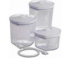 SOLIS OF SWITZERLAND Vakuumbehälter (3-tlg.) farblos Aufbewahrung Küchenhelfer Haushaltswaren Lebensmittelaufbewahrungsbehälter