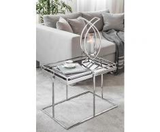 Fink Tabletttisch TRIEST, (Set, Tablett mit Ständer) schwarz Beistelltische Tische