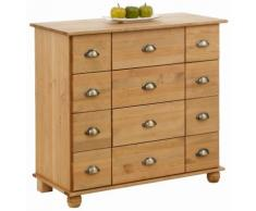Home affaire Kommode Anoushka, wahlweise mit 5, 10, 12 oder 15 Schubladen braun Schubladenkommoden Kommoden Sideboards