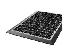 my home Fußmatte Mathis, rechteckig, 20 mm Höhe grau Designer Fußmatten