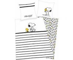 Kinderbettwäsche Peanuts Snoopy PEANUTS, weiß, weiß