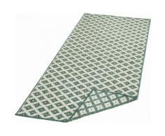 bougari Läufer Nizza, rechteckig, 5 mm Höhe, In- und Outdoor geeignet, Wendeteppich grün Teppichläufer Teppiche Diele Flur