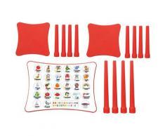 Jamara Kindersitzgruppe Easy Learning rot Kinder Kinderstühle Kindermöbel