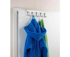 Türgarderobe Asola, WENKO, passend für Türen silberfarben Garderobenhaken Garderoben Haken