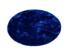 my home Hochflor-Teppich Mikro Soft Super, rund, 50 mm Höhe, Besonders weich durch Microfaser, extra flauschig, Wohnzimmer blau Schlafzimmerteppiche Teppiche nach Räumen