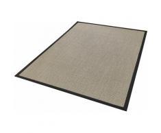 Dekowe Läufer Brasil, rechteckig, 10 mm Höhe, Teppich-Läufer, gewebt, Obermaterial: 100% Sisal, mit Bordüre, Flur schwarz Teppichläufer Teppiche und Diele