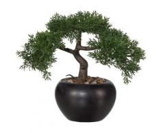 Creativ green Kunstbonsai Bonsai Zeder (1 Stück) grün Künstliche Zimmerpflanzen Kunstpflanzen Wohnaccessoires