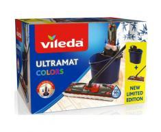 Vileda Bodenwischer-Set Ultramat 2in1 Colors, (Ultramat System mit 3-teiligem Stiel, Mikrofaser-Bezug, Eimer) blau Wischer Reinigungsgeräte Küche Ordnung
