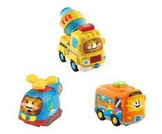 Vtech Spielzeug-Auto Tut Baby Flitzer 3er-Set Reisebus, Helikopter, Betonmischer bunt Kinder Ab 12 Monaten Altersempfehlung