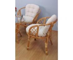 Rattanstuhl gelb Rattan-Sessel Sessel Stühle
