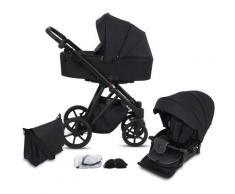 Knorrbaby Kombi-Kinderwagen Luzon Black Edition, Schwarz, 15 kg, Gestell faltbar; Made in Europe; Kinderwagen schwarz Kinder Kombikinderwagen Buggies