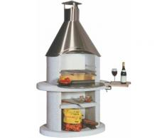 WELLFIRE Grillkamin Diora, BxTxH: 110x73x192 cm grau Grillkamine Grill Haushaltsgeräte Grills