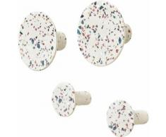 BLOMUS Garderobenhaken PONTO (Set, 4) weiß Garderoben Garderobenhalter