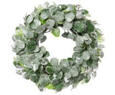 Dekokranz Eukalyphtus geeist grün Kunstkränze Kunstpflanzen Wohnaccessoires Dekokränze