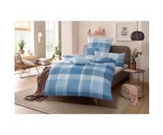 s.Oliver Bettwäsche Tabea, mit GRATIS-Zugabe: 2x Kissenhülle blau nach Größe Bettwäsche, Bettlaken und Betttücher