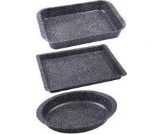 CHG Auflaufform Granito Metall (3-tlg), grau, grau