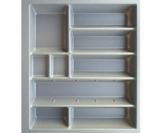 OPTIFIT Besteckeinsatz Cara, 60 cm breit, passend für Schubkästen der Serien Tokio, Elga, Tara und Avio silberfarben Zubehör Küchenmöbel Möbel