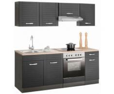 HELD MÖBEL Küchenzeile Falun, ohne E-Geräte, Breite 210 cm grau Küchenzeilen Geräte -blöcke Küchenmöbel Arbeitsmöbel-Sets