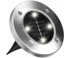 MediaShop LED Gartenleuchte DISK LIGHTS, LED-Board, Set mit 8 Stück silberfarben LED-Lampen LED-Leuchten Lampen Leuchten sofort lieferbar