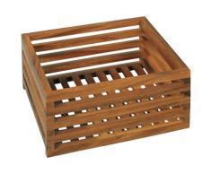 Möve Aufbewahrungsbox ACACIA, Gitterbox aus Akazienholz braun Körbe Boxen Regal- Ordnungssysteme Küche Ordnung