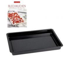 CHG Backblech, Emaille, (Set), inkl. Backbuch schwarz Zubehör für Herde Kochfelder Haushaltsgeräte Backblech