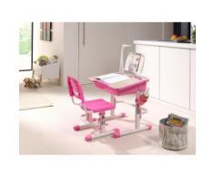 Vipack Kinderschreibtisch Comfortline (Set mit Stuhl), weiß, weiß-rosa