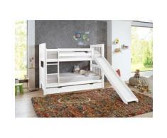 Relita Etagenbett Kick, wahlweise mit Bettschublade, Buche weiß Kinder Kinderbetten Kindermöbel