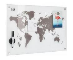 """Zeller Present Pinnwand """"Worldmap"""", weiß, weiss"""