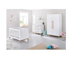 Pinolino Babyzimmer-Komplettset Riva (Set 3-tlg), weiß, weiß/esche