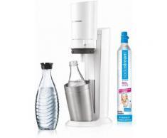 """SodaStream Wassersprudler """"Crystal 20"""" (1 Wassersprudler 1 Glaskaraffe 1 Zylinder), weiß, weiß"""