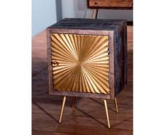 SIT Nachtkommode Peetal goldfarben Nachtkonsolen und Nachtkommoden Nachttische Tische Sideboards