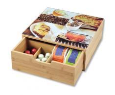 KESPER for kitchen & home Aufbewahrungsbox, 8 Fächer braun Körbe Boxen Regal- Ordnungssysteme Küche Ordnung Aufbewahrungsbox