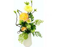 I.GE.A. Kunstblume Arrangement Ranunkel, Vase aus Keramik orange Künstliche Zimmerpflanzen Kunstpflanzen Wohnaccessoires