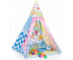 Fillikid Spielzelt Tipi, bunt Kinder Spieltunnel Outdoor-Spielzeug Spielzelte