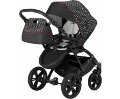 knorr-baby Kombi Kinderwagen Set, »Voletto Tupfen, schwarz-weiß«, schwarz, Unisex, schwarz-weiß