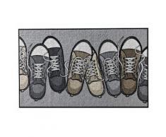 SALONLOEWE Fußmatte waschbar, grau, grau/natur