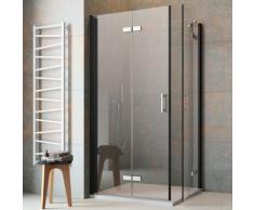 maw by GEO Eckdusche flaconi, ebenerdiger Einbau möglich schwarz Bodenablauf Duschkabinen Duschen Bad Sanitär