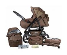 Bergsteiger Kombi-Kinderwagen, 10-tlg., »Rio, chocolate, 3in1«, Unisex, chocolate