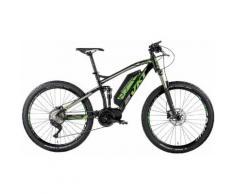 Montana Fahrräder E-Bike KRUG 10 Gang Shimano DEORE Schaltwerk Kettenschaltung Mittelmotor 250 W, schwarz, schwarz