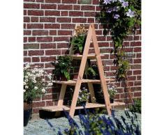 promadino Blumenständer Blummentreppe, BxTxH: 101x31x113 cm beige Pflanzgefäße Blumenvasen Wohnaccessoires