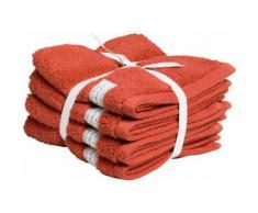 Gant Waschlappen Organic Premium orange Waschhandschuh und Handtücher Badetücher