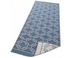 Läufer, Laila, my home, rechteckig, Höhe 5 mm, maschinell gewebt blau Küchenläufer Läufer Bettumrandungen Teppiche