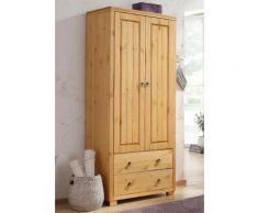 Home affaire Kleiderschrank Gotland, Höhe 178 cm, mit Holztüren beige Mehrzweckschränke Schränke