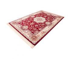 Böing Carpet Teppich Classic 4051, rechteckig, 10 mm Höhe, Orient-Optik, mit Fransen, Wohnzimmer rot Esszimmerteppiche Teppiche nach Räumen