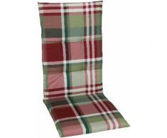 GO-DE Sesselauflage, 120 x 50 cm, hoch rot Gartenstuhlauflagen Gartenmöbel-Auflagen Gartenmöbel Gartendeko Sesselauflage