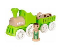 """BRIO Spielzeug-Eisenbahn """"My Home Town Lok mit Kuh-Anhänger"""", grün, Unisex, grün"""