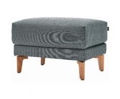 hülsta sofa Hocker hs.450, mit Holzfüßen blau Polsterhocker Sessel und Sofas Couches